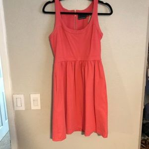 Coral cocktail dress with pockets!